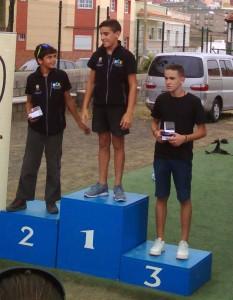 podium los Realejos juveniles.